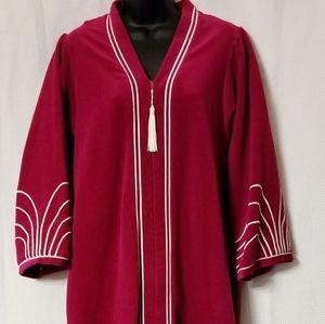 Vtg Golden Girls 60/70s Evelyn Pearson Velour Robe